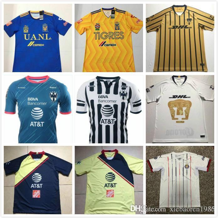 half off 2ceec 54c75 Top quality 18 19 LIGA MX Mexico Club CHIVAS DE Guadalajara Soccer Jerseys  2018 Tigres Camiseta de futbo Girl football shirts Size S-XXL