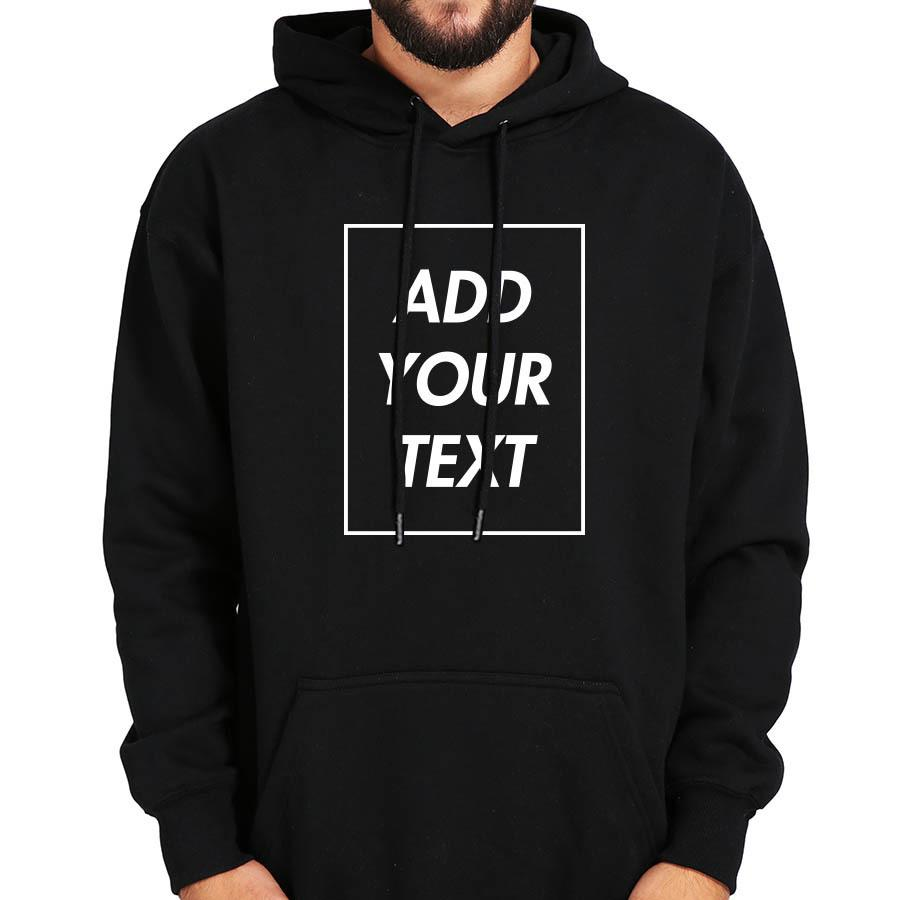 Custom Hoodies Men Add Your Text Sweatshirt Customized Long Sleeve High  Quality Soft Plus Velvet Winter Warm Tops Hoody
