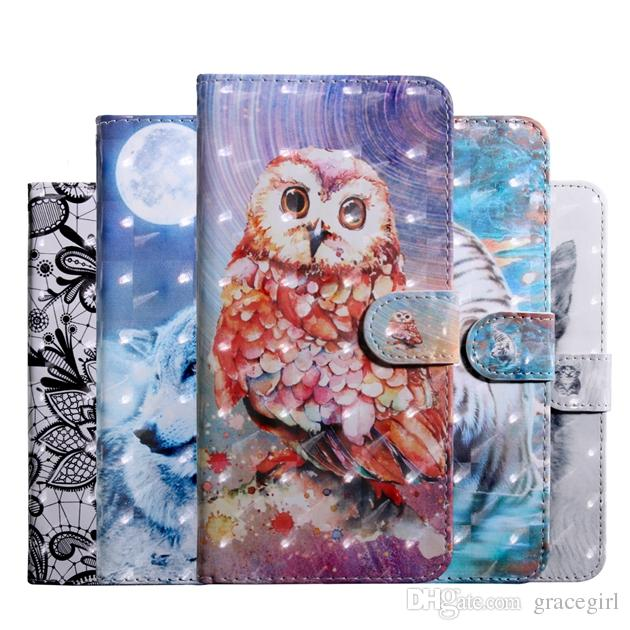 d527e89d3fc Carcasas Para Celulares 3D Owl Wolf Funda De Cuero Para Samsung Galaxy A10  A20 A30 A50 A40 M10 M20 M30 S10 5G Sony Xperia L3 L2 1 10 Plus Funda De  Flor ...