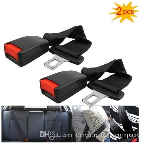 2Pcs Universal Car Seat Seatbelt Safety Belt Clip Extender Extension 7/8  Strap Safety Buckle Free Shipping