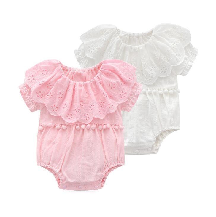 e2305201c9e3 Satın Al Yenidoğan Bebek Romper Kızlar Tulum Bebek Bodysuit Tutu Dantel  Elbise Giyim Kıyafet