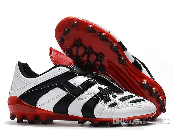 419070fdbd1a New Mens Football Boots Predator Accelerator Firm Ground ZINÉDINE ZIDANE  Cleats Predator Accelerator Electricity AG Outdoor Soccer Shoes Predator ...