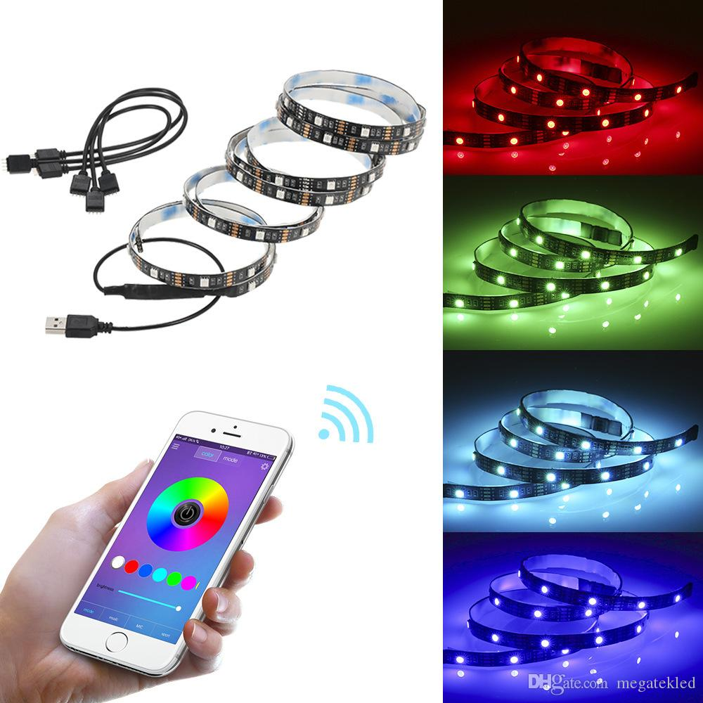 high brightness 4 in 1 TV background light Bluetooth USB APP phone control SMD5050 RGB led strip light