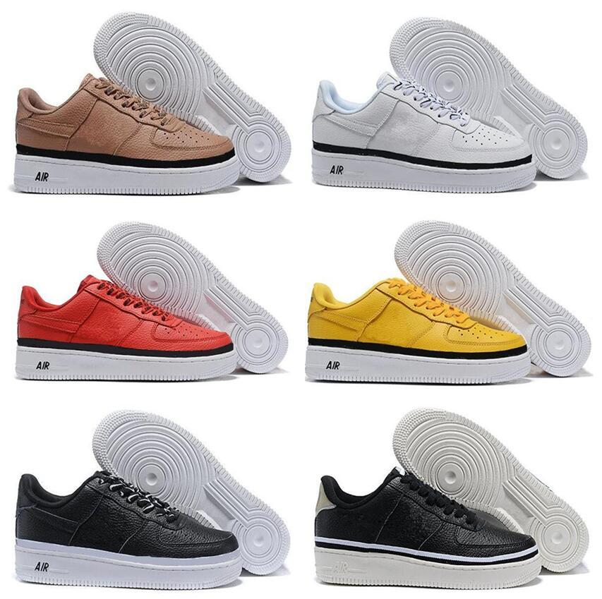 pretty nice 47556 fb095 High-quality Fashion Forcing CORK af1 Men Women One 1 Running Shoes high  Low Cut All White Black Brown Color Casual Sneakers eur