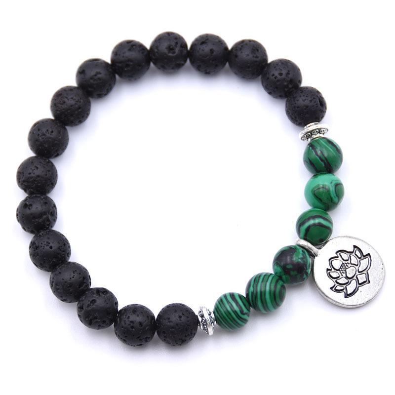 Bobo Cover Pietra Naturale Lotus Buddha Beads Bracelet Opaco Amazonite Mala Beads braccialetti di braccialetti le donne braccialetto di fascino Yoga