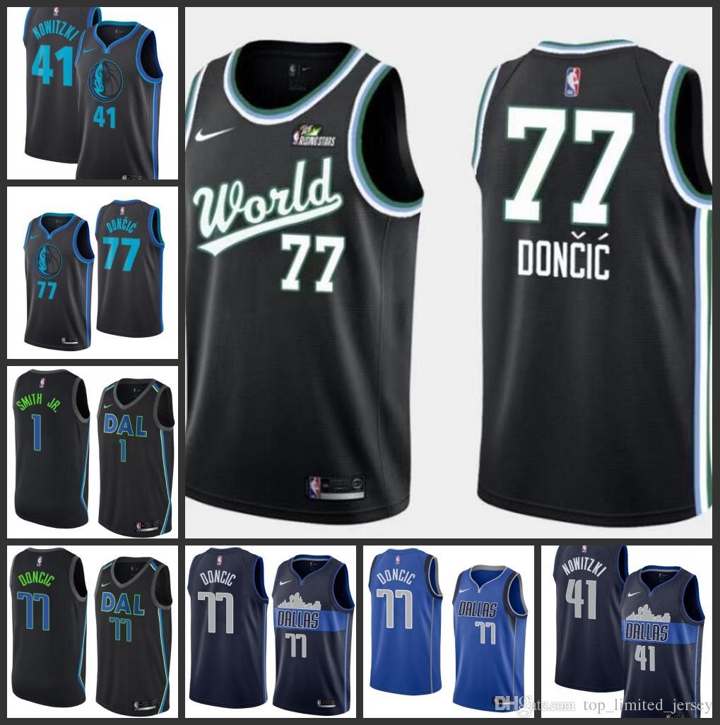 best service 34342 3a4a1 2019 Season Dallas Men Mavericks Jersey Dirk Nowitzki Luka Doncic City  Jerseys Edition