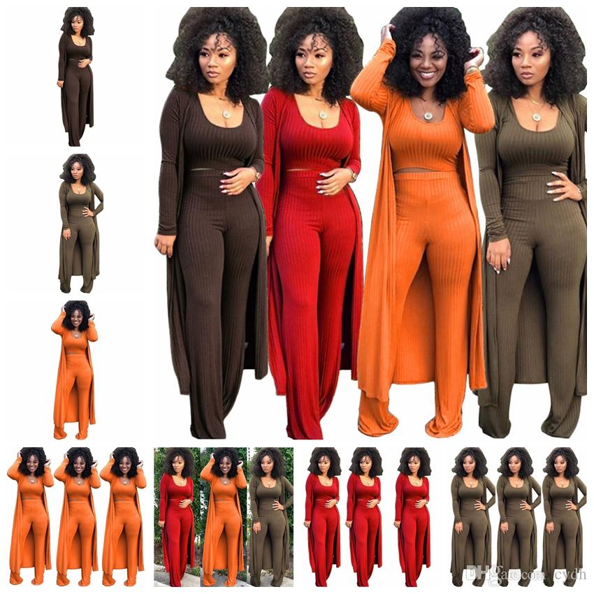 2019 European spring and summer hot sale solid color high-elastic pit three-piece suit tight sexy nightclub, support mixed batch