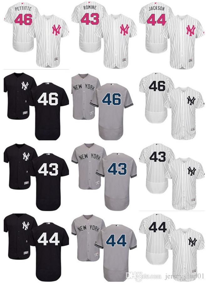 6a889353 2018 Custom Men's Women Youth Majestic NY New York Yankees Jersey ...