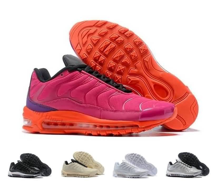 Cheap Sale Women 97 Plus TN Running Shoes Triple White Black Pink Yellow  Orange Womens 97s Triple S Trainer Sports Sneakers 36 40 Men Sports Shoes  Shoe ... 15da934624