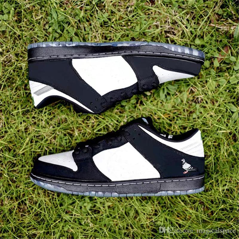 2019 Sortie authentiques Staple x Dunk SB Low Panda Pigeon Pro OG QS chaussures de skateboard pour hommes baskets de sport avec boîte BV1310 013