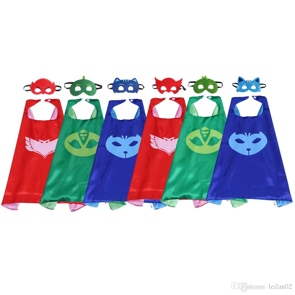 Pj Masks Halloween Costume.6 Style Pj Masks Superhero Cape With Mask Greg Connor Amaya Costumes For Kids Top Quatity Birthday Party Halloween Christmas Party Favors