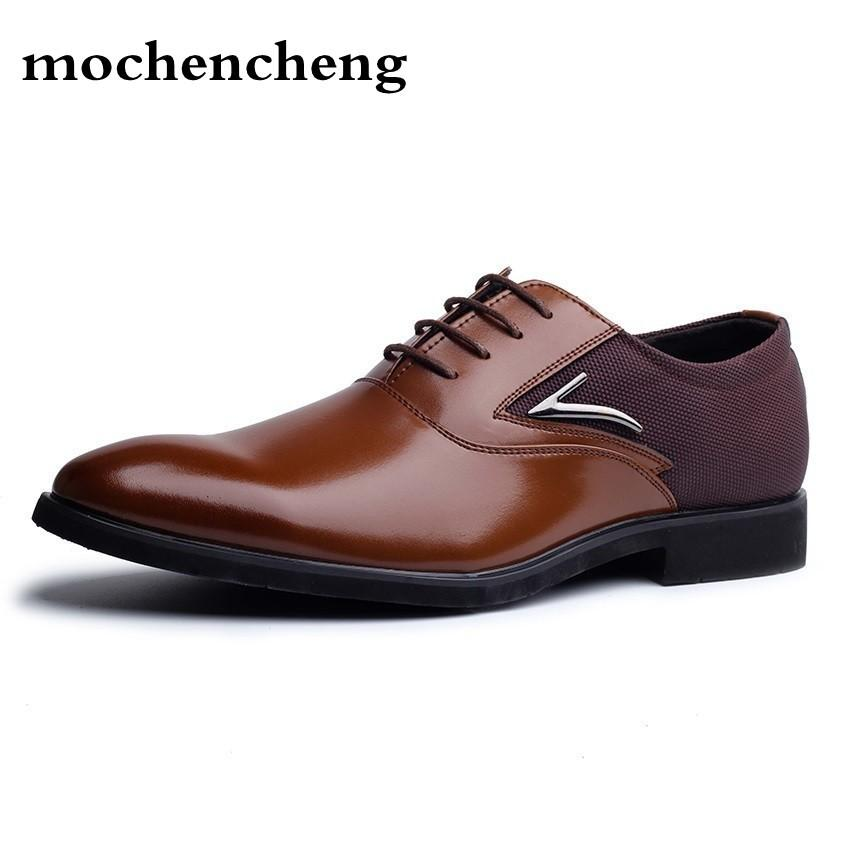 9ea049347233b7 Plus Size 38 48 Men Leather Dress Shoes Pointed Toe Business Formal Men  Office Shoes Lace Up Black Brown Oxford For Online Clothes Shopping  Designer Shoes ...