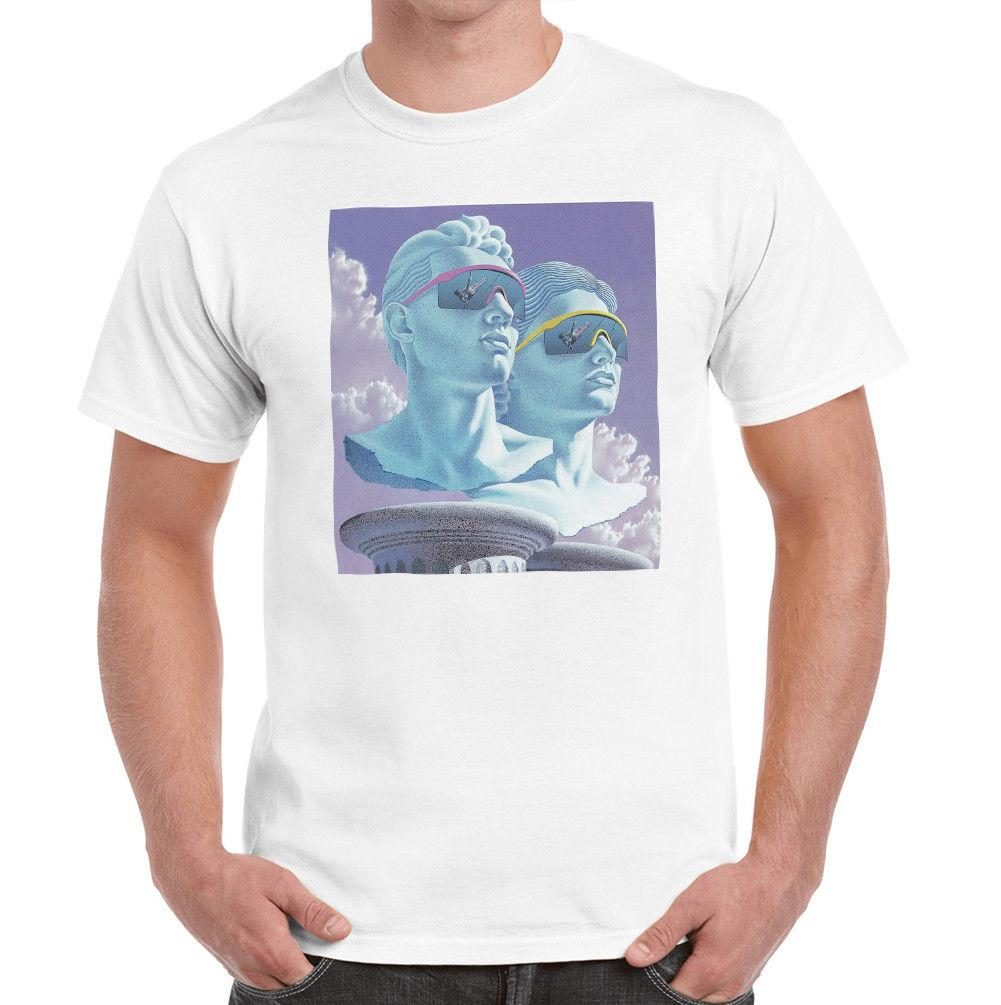 Greek Roman Statue Olympic Vaporwave Cloud Men s Printed Cotton T-Shirt Top  Tee Size Discout Hot New Tshirt Short Sleeve Plus Size T-shirt