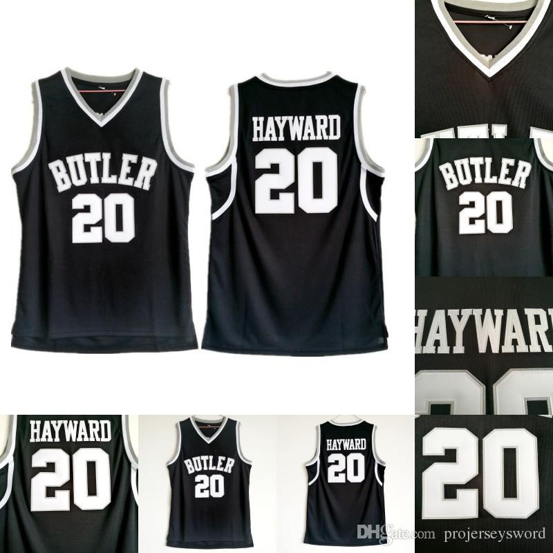 buy online 6c357 d727e Mens 20 Gordon Hayward Butler Bulldogs College Backetball Jersey 100%  Stitched Gordon Hayward NACC Basketball Jerseys Free Shipping