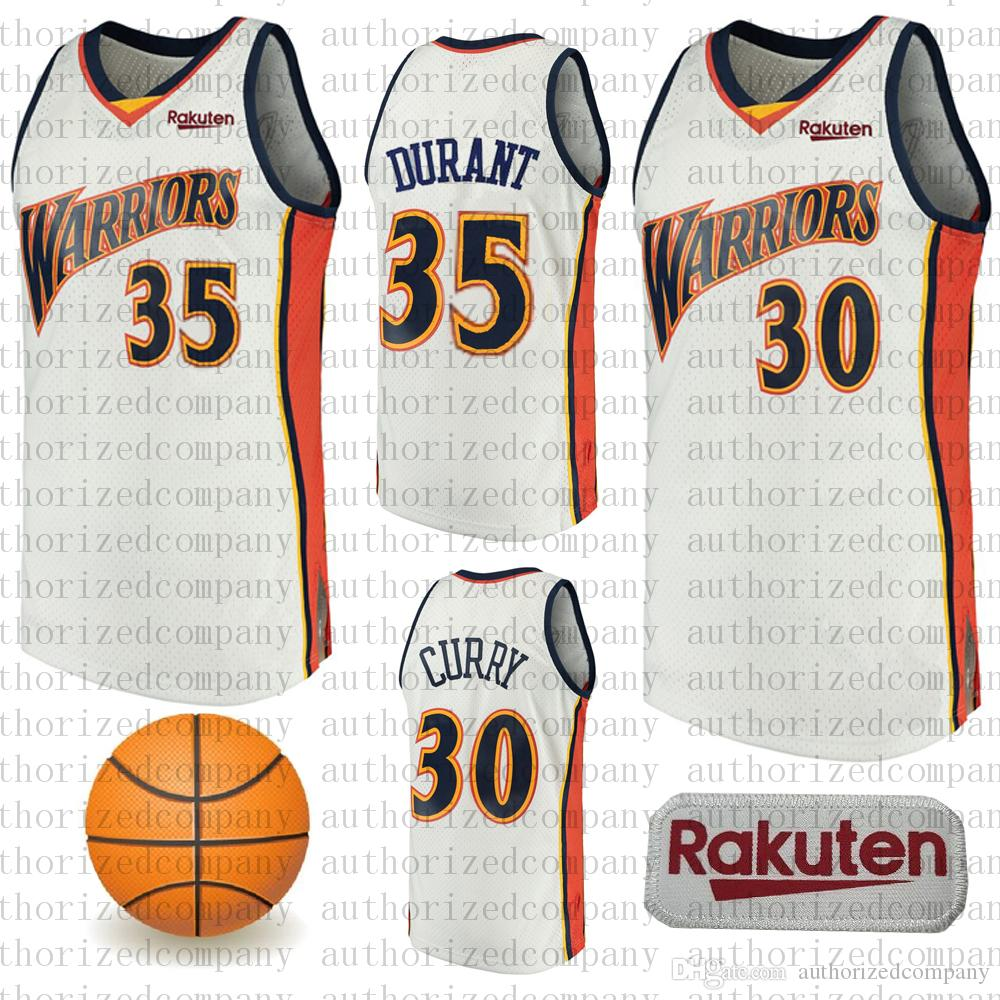 845c69fabfa 2019 Men s Golden jerseys State Stephen 30 Curry 35 Kevin Durant we believe  Warriors Mitchell   Ness White Swingman Jersey Throwback