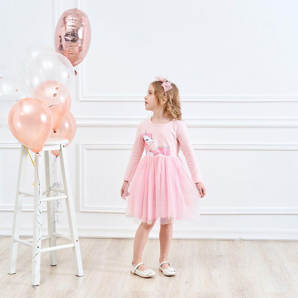 Vestido De Niñas Vestidos De Flores De Manga Larga Para Niños Vestidos Unicornio 2018 Vestidos De Niñas Vestido De Niños De Otoño Para Niña