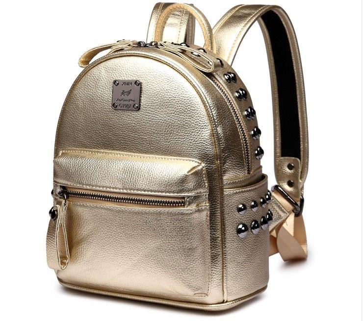 20b4399f96 2019 PU Leather High Quality Luxury Brand Men Women's Backpack ...