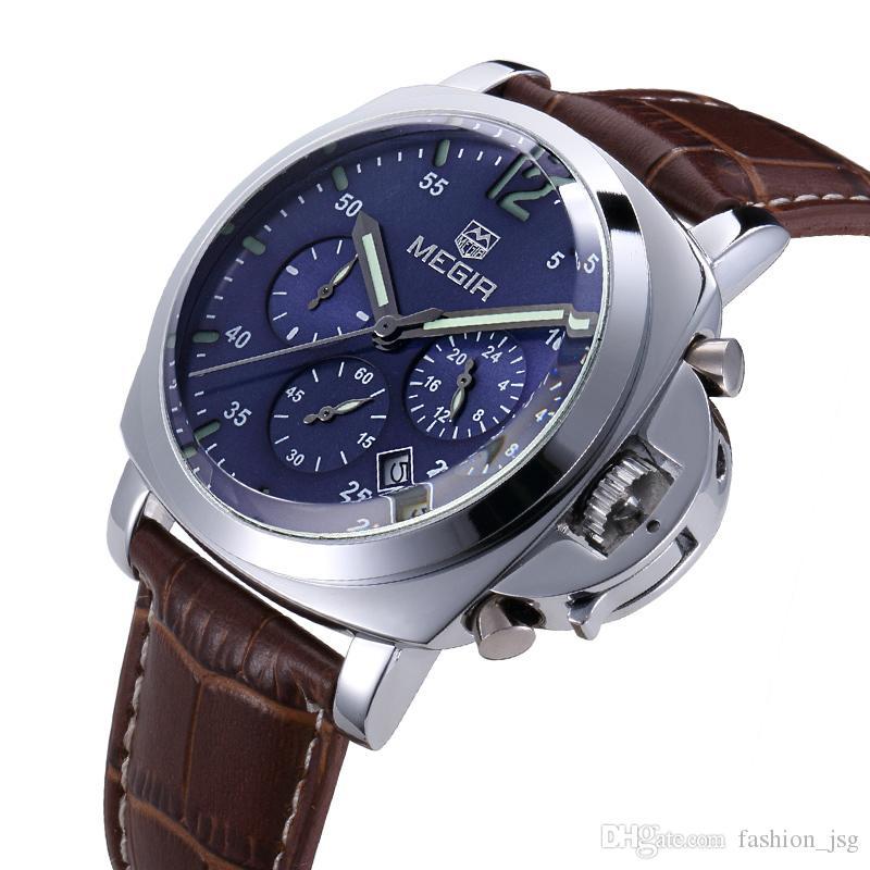 ae3879008fa Compre BRW Relógio De Quartzo Homens Top Marca De Luxo Famoso Relógios De Pulso  Relógio Masculino Relógio De Couro De Negócios Moda Casual Vestido Relógios  ...