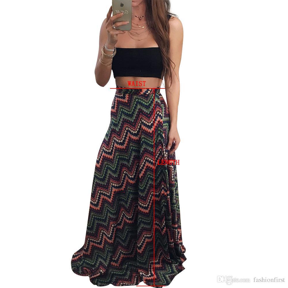 Indienne Femmes Acheter Jupe Maxi Bohème Print Coton Hippie Long LpUSqMVGz