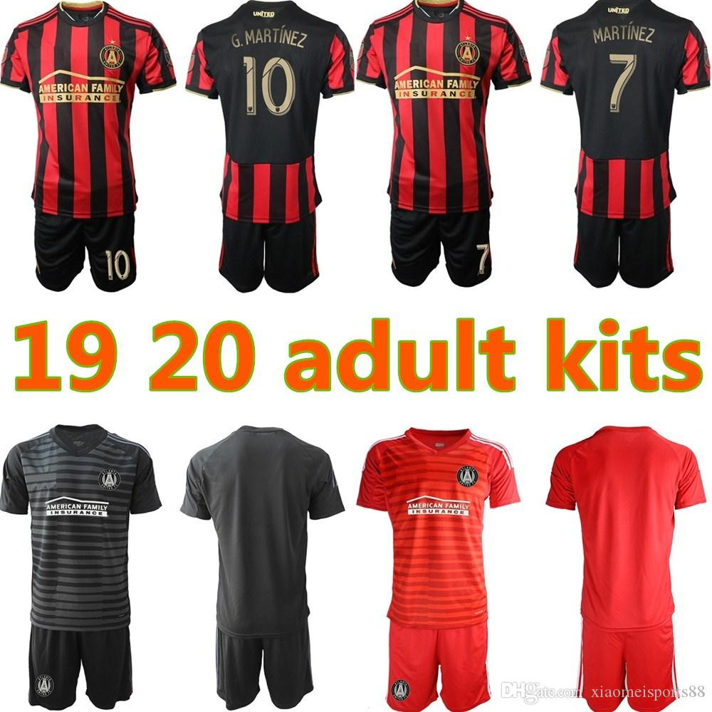 info for 27aa6 3bf63 19 20 Atlanta United MLS Soccer 8 Ezequiel Barco Jersey Set 15 Hector  Villalba 24 Julian Gressel Red Black Football Shirt Kits Uniform