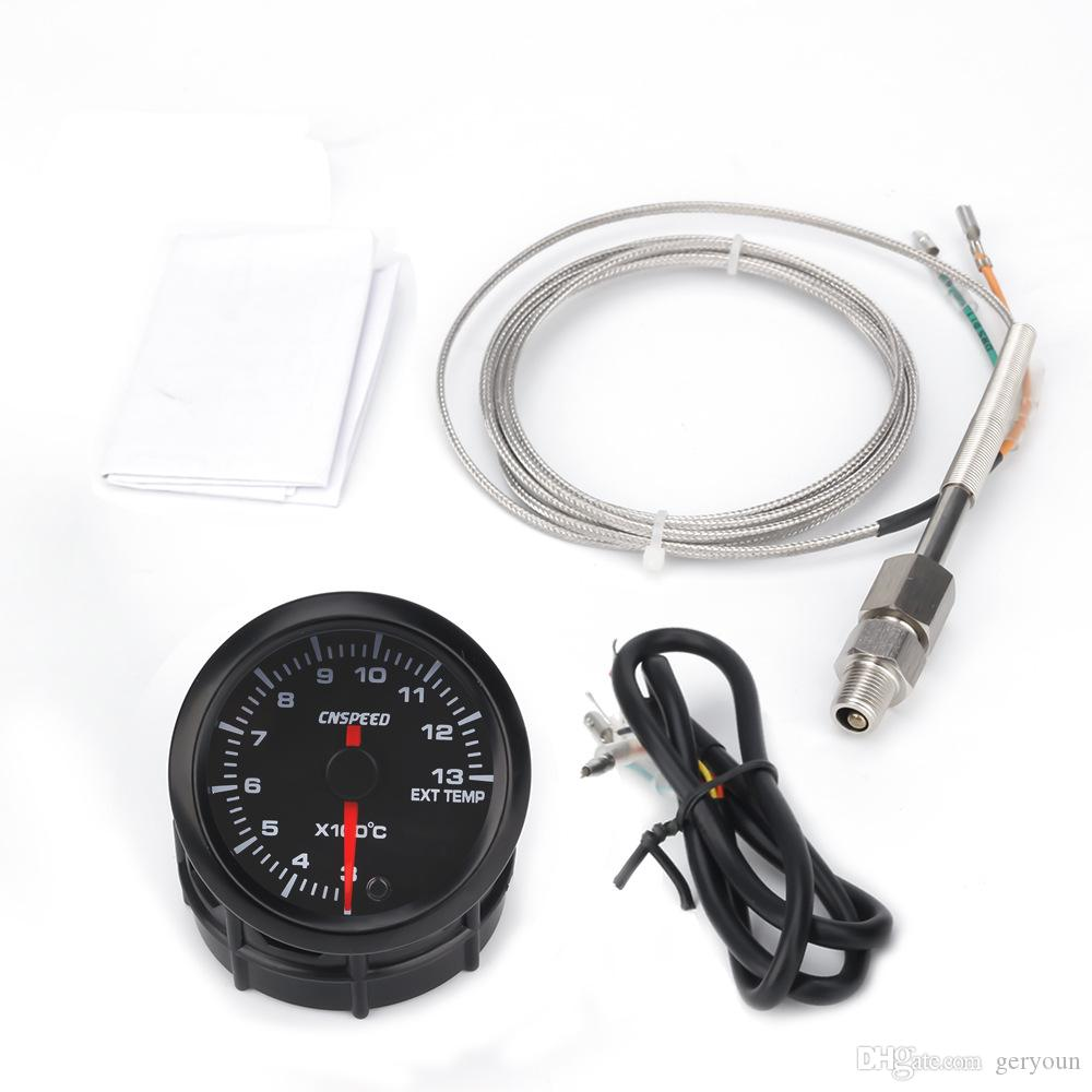 Car universal modification 12V Exhaust gas temperature gauge 2 inch (52mm) background car exhaust gas meter