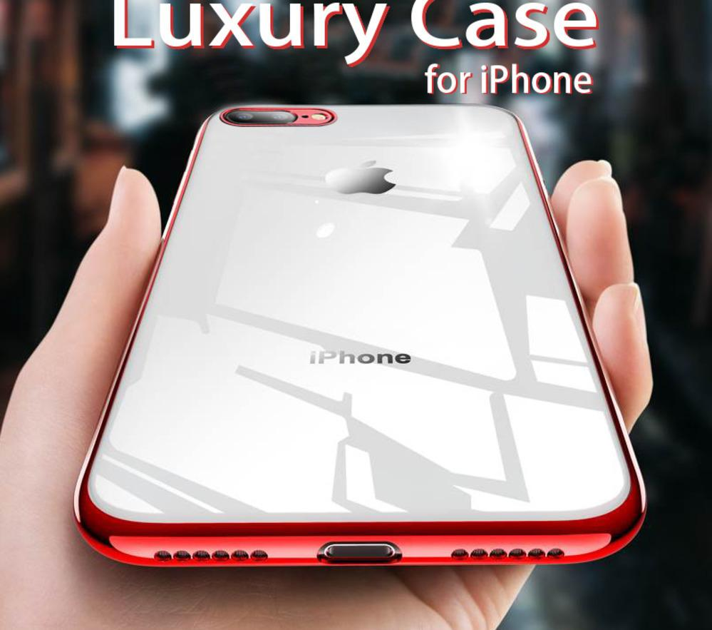 iphone 8 plus case clear silicone