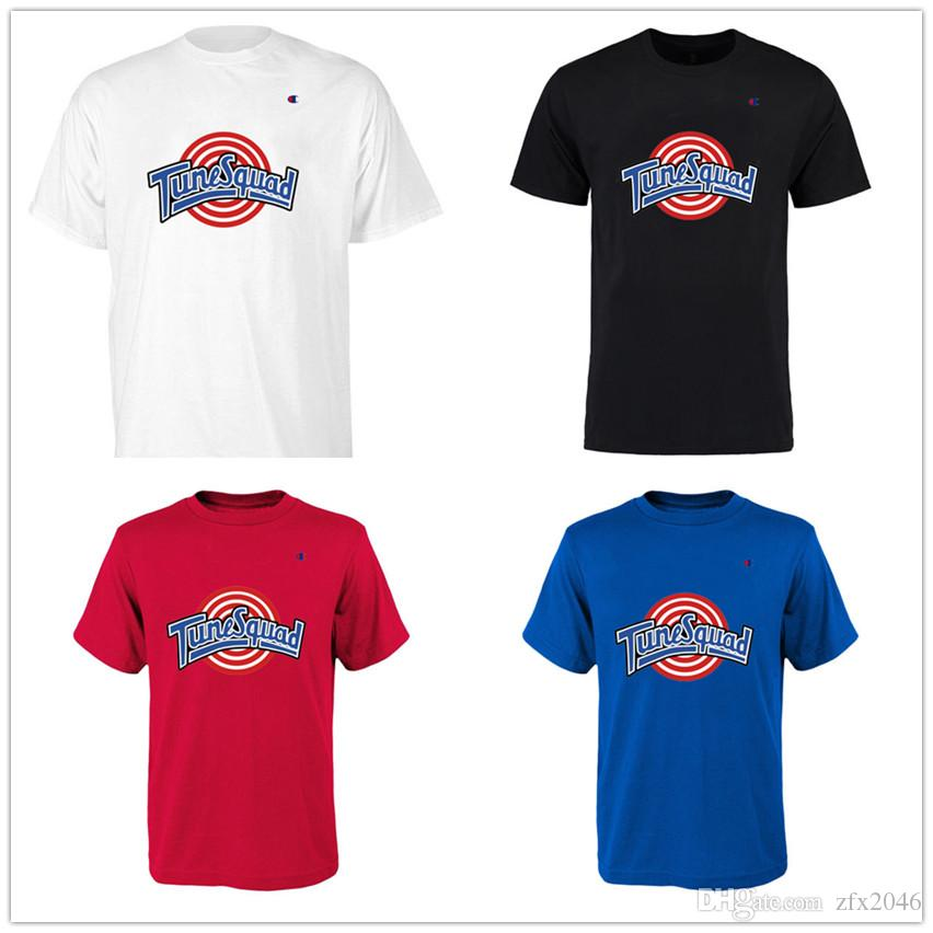 Space Jam Basketball Trikot Movie Tune Squad Designer T-Shirts Herrenmode Kurzarm Freizeithemden Hip Hop Freizeit Print Champion Logo