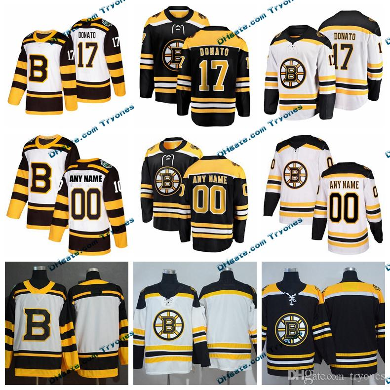 sale retailer d2a2d 07d6e 2019 Winter Classic Boston Bruins Ryan Donato Mens Stitched Jerseys  Customize Home Black Shirts 17 Ryan Donato Hockey Jerseys S-XXXL