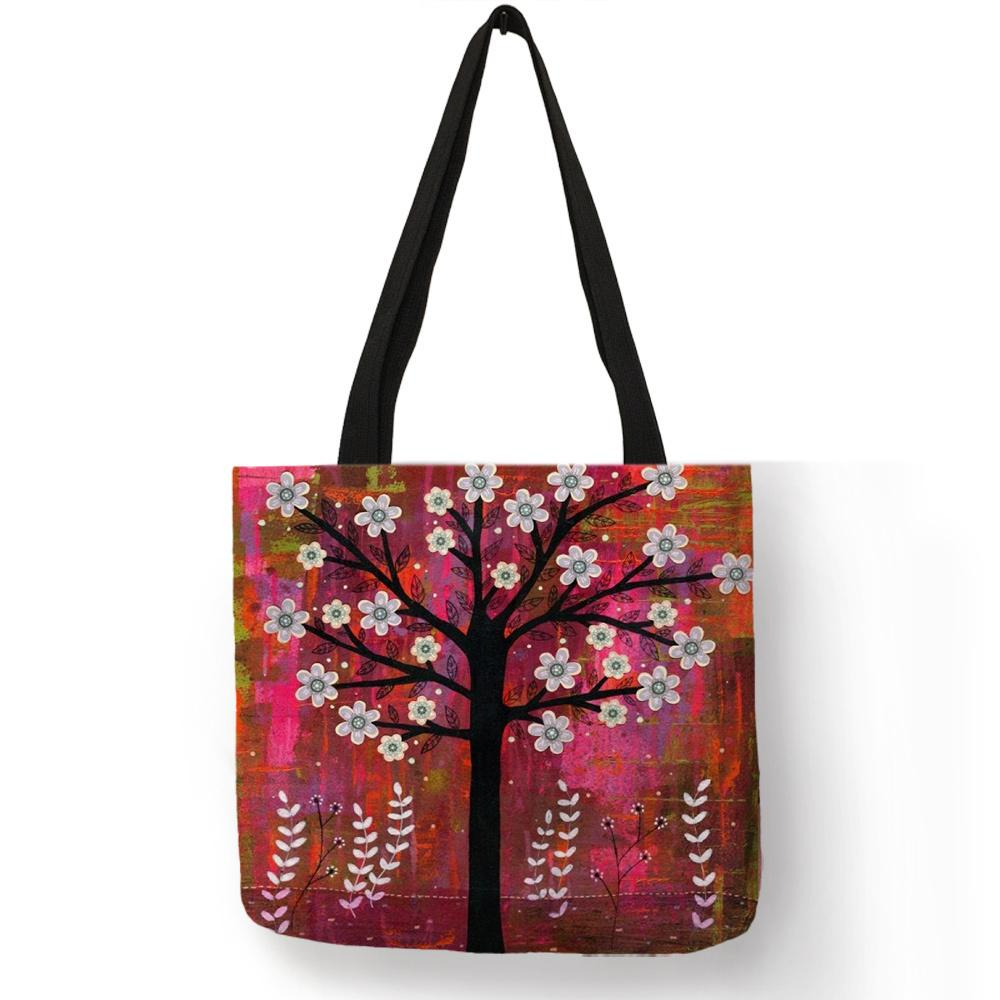 ad13bc07d24a Fantasy Nature Pretty Nice Blossom Trees Printing Tote Bag Elegant Shopping  Travel Street Fashion Accessories For Women Girls Bags For Men Satchels  From ...