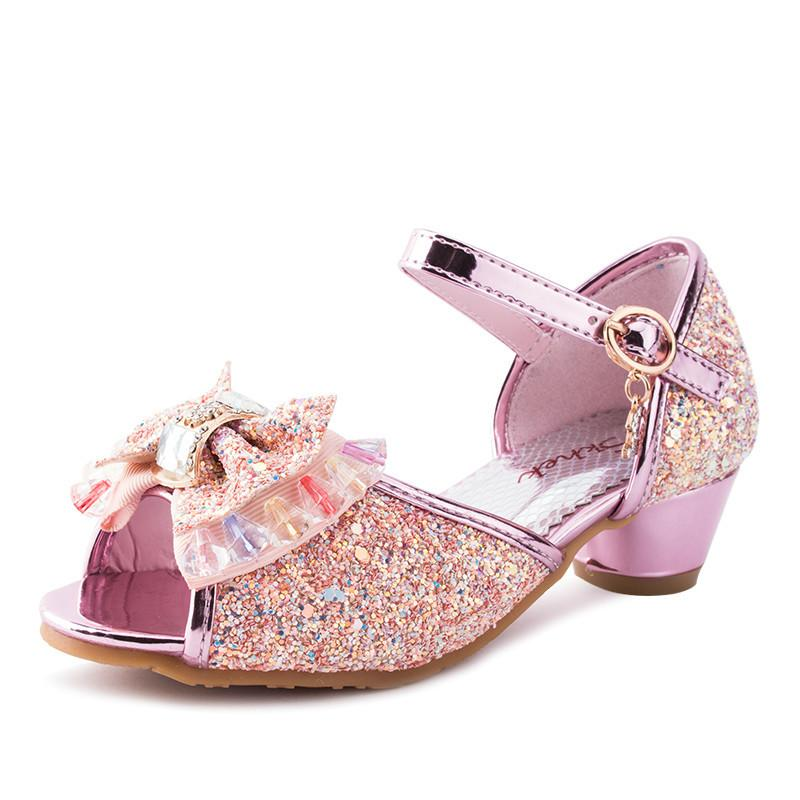 a8495aa1f035fb Kids Shoes Girls  Casual Sandals Fashion Children Wear Lace Bow Shoes Pearl  Princess PU Shoes SKU H 23 Children Footwear Toddlers Boots From  Caishen018