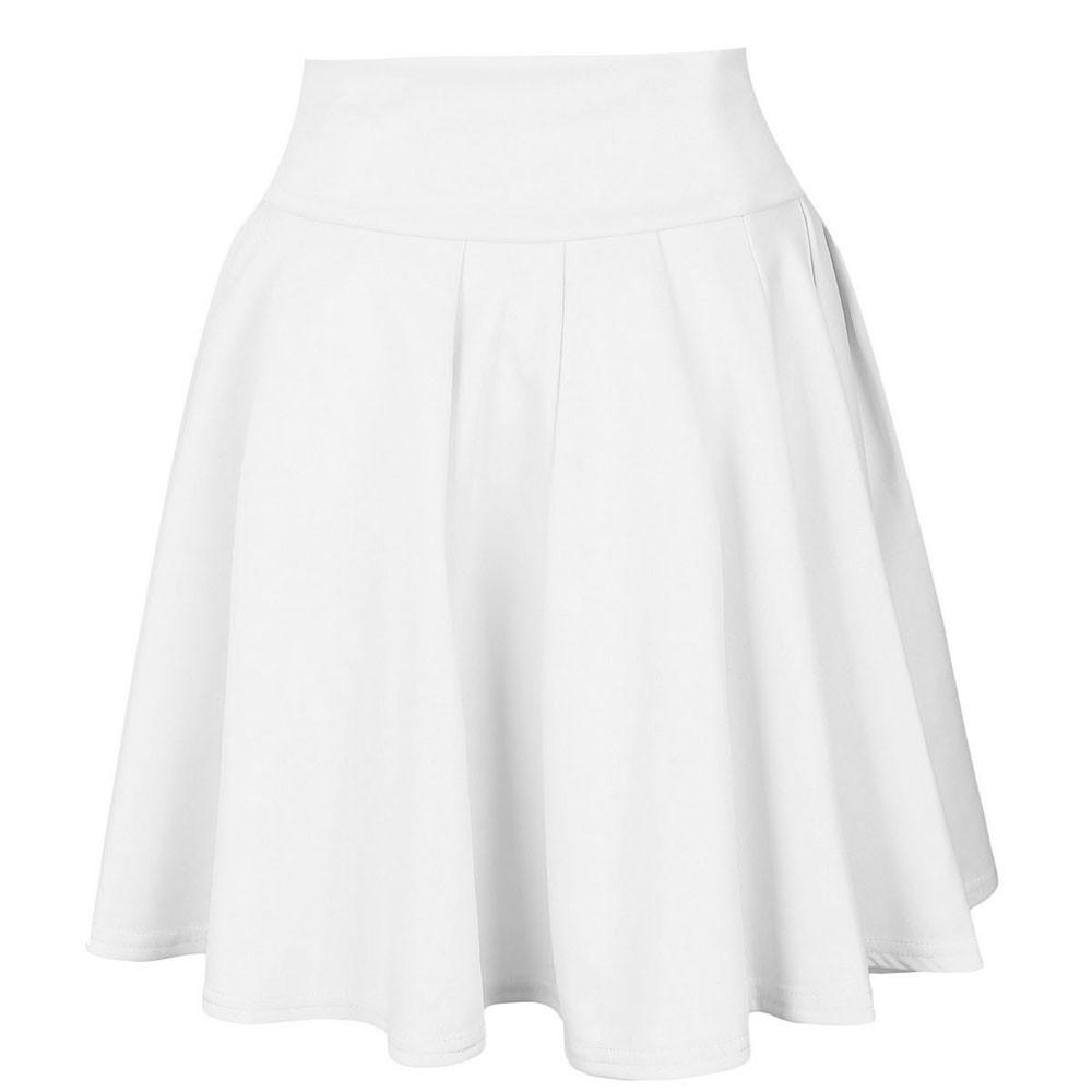 Womens Solid Skirt Ladies Casual ball gown Mini Short Skirt Simple High Waist Party Cocktail Tutu Skirt Faldas Mujer #Z
