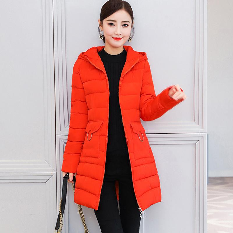 a18c8c3eb8d Female Winter Jackets Cotton Padded Overcoat 2019 Spring Autumn New Ladies  Slim Long Parka Warm Cotton Down Women Fall Coats 3XL Winter Coats Denim  Jacket ...