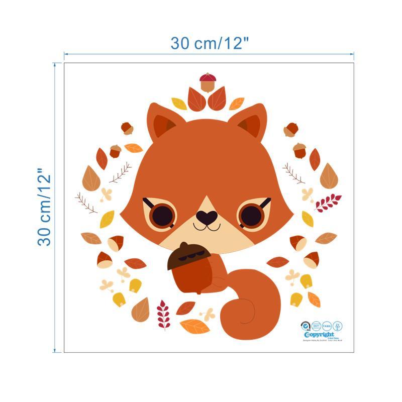 % Jungle Wild Forest Animals Squirrel Fox Window Wall Stickers Decals Children Nursery Kids Flower Wedding Christmas Decor