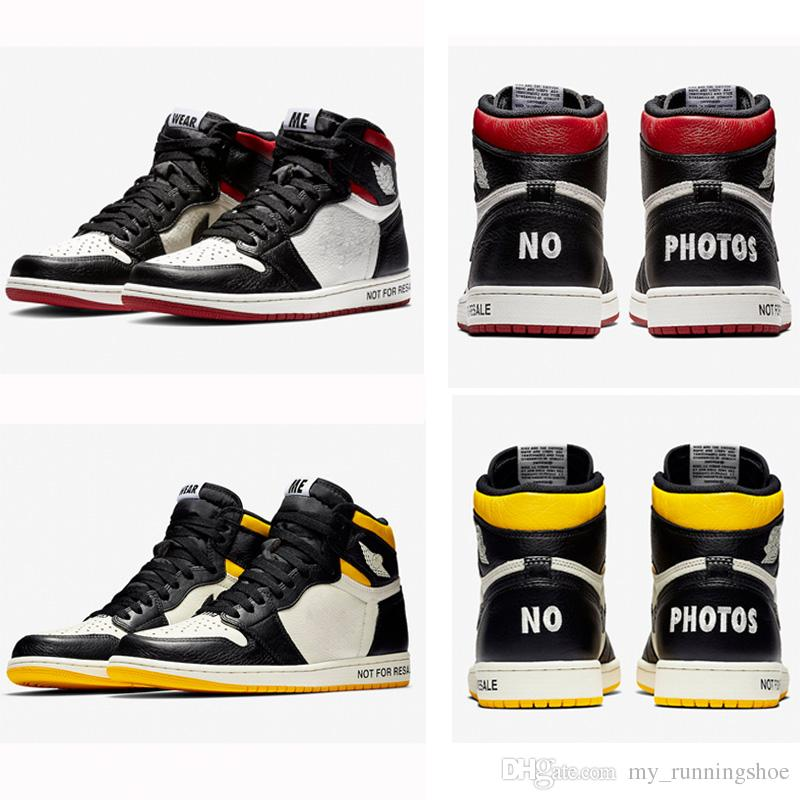 0996a383a10d 2019 New Not For Resale 1 Basketball Shoes NRG No Photos Retro Men Sports  Sneakers 1s High Banned Yellow Red White Trainers With Box From  My runningshoe