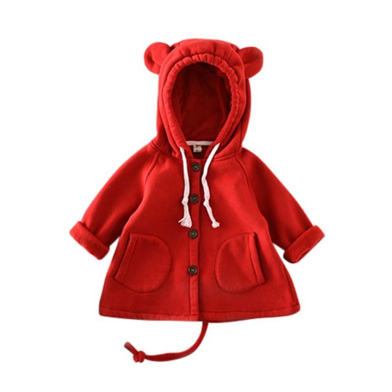 6b0df6723 Autumn Winter Baby Girl Cartoon Big Ears Outerwear Children Kids Jacket  Cotton Sweater Lovely Warm Baby Tops Girl Coat