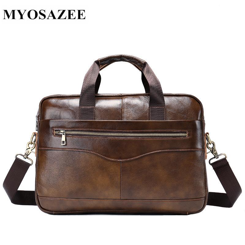 c8719e09eb Genuine Leather Men S Bag Casual Business Briefcase Cross Section Men  Shoulder Messenger Bag Handbag Tide Attache Case Leather Goods From  Pinkvvv