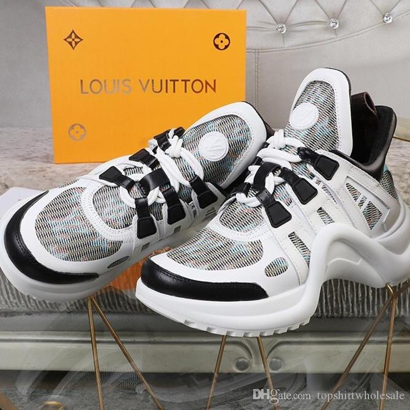 2019 fashion luxury ladies breathable casual shoes, high quality women's sports shoes, women's leather lace-up sneakers, with original box