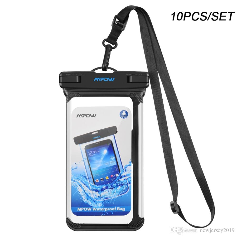 buy online 26931 e1386 10Pcs Mpow IPX8 Waterproof Phone Pouch Underwater Swimming Bags Phone Case  PVC Crystal Clear Key Bag For iPhone Samsung Huawei #234615
