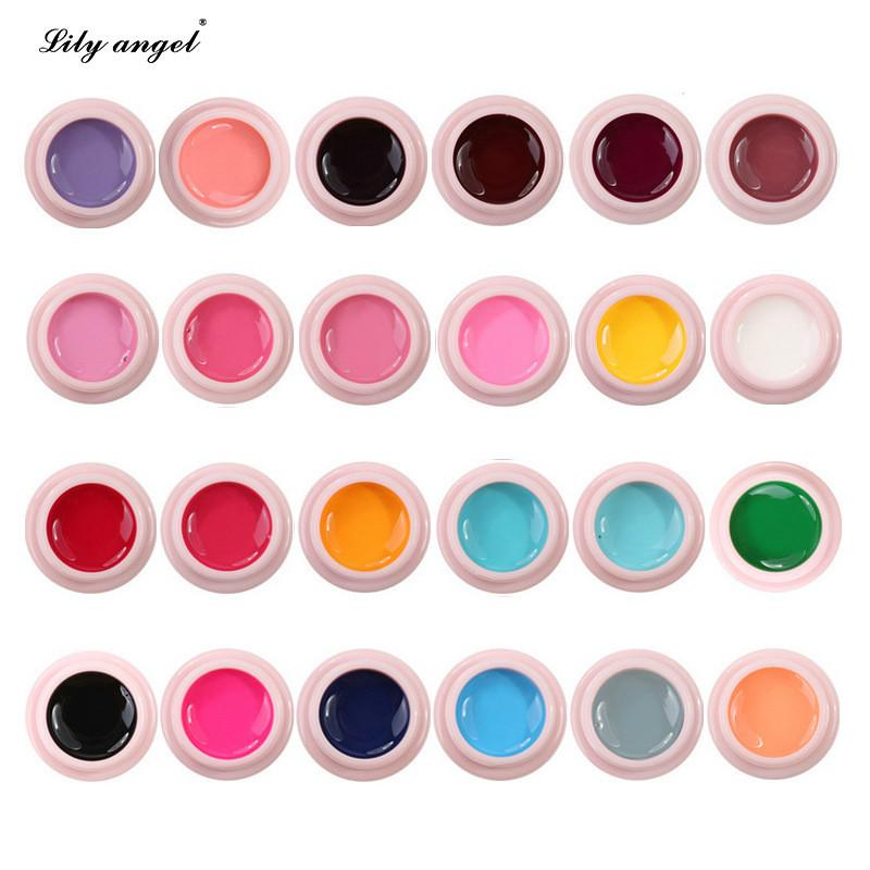 24pcs Paint Gel Charming Pure Colors UV LED Nail Painting Gel Color for Finger Nail Art Design salon Gel Polish Lacquer