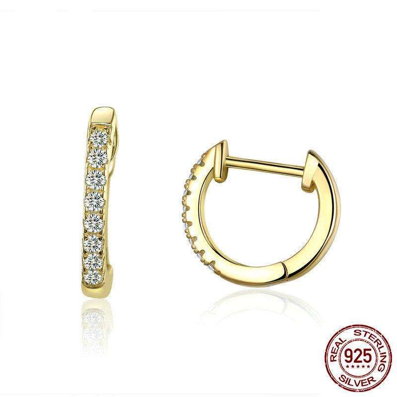 2f80ffa94 100% Authentic 925 Sterling Silver Round Circle Hoop Earrings for ...