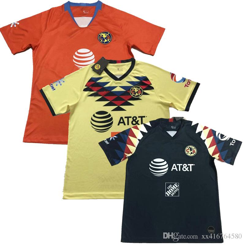 newest 72f56 c18c2 S-XXL New 2019 2020 LIGA MX Club America Soccer Jersey 19 20 home away 3rd  O.PERALTA best quality football shirts