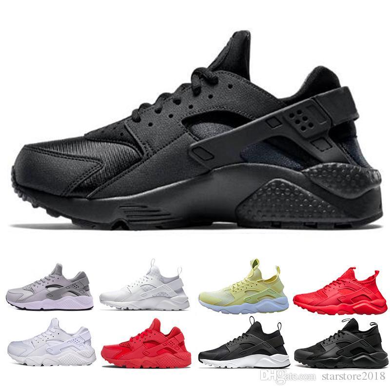 Acheter Nike Air Huarache 2019 Huarache Ultra Run Chaussures Triple Blanc  Noir Rouge Hommes Femmes Chaussures De Course Jaune Gris Huaraches  Chaussures De