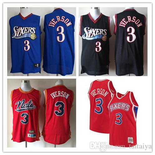 2019 2018 2019 Men S 3 Allen Iverson Philadelphia 76er Reliablequality  Jersey Swingman Basketball Jersey From Tvvt d0a428c7f