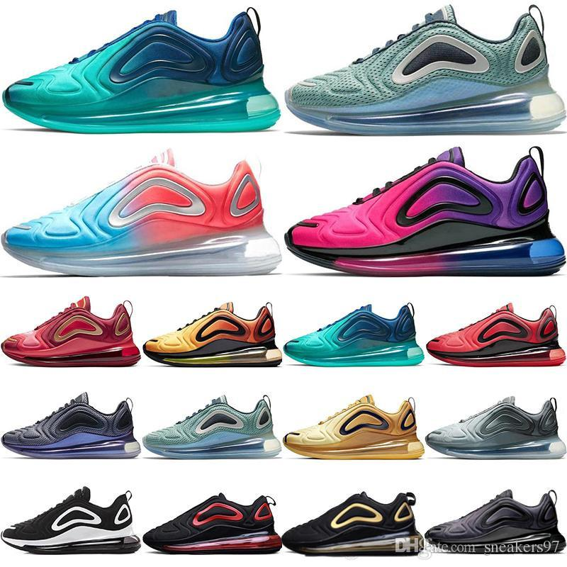 official photos b497f 68af0 Acheter 2019 Pas Cher KPU Nike Air Max Airmax AIRMAX Running 720 Running  Athletic Chaussures 720s 72C Hommes Mode Mer Forêt Coucher Du Soleil Triple  Red ...