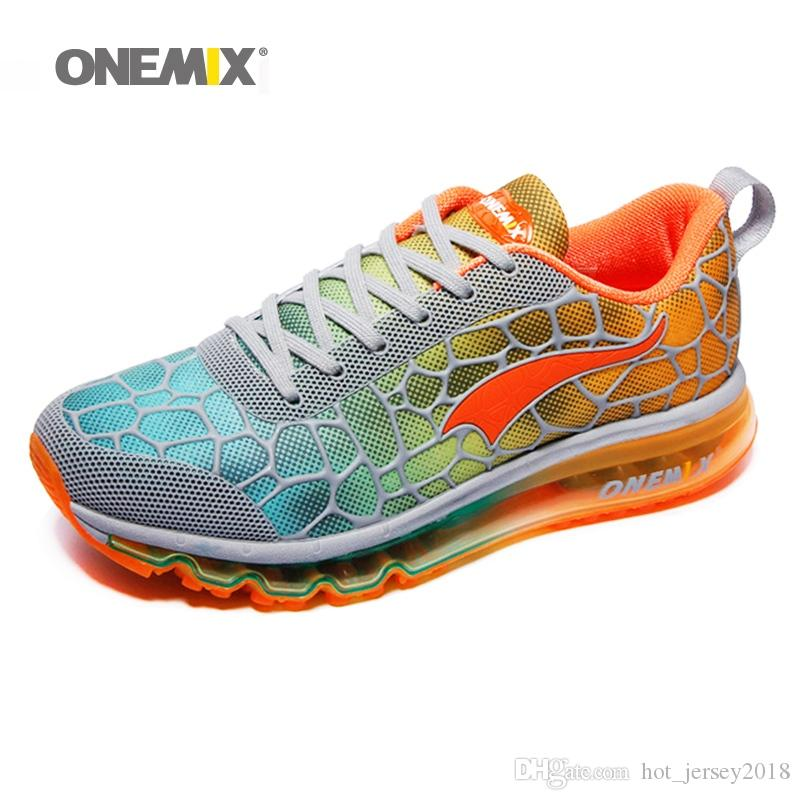 hot sale online d7087 e062c 2019 Hot Onemix Air Cushion Mens Running Shoes 270 For Men Summer Sports  Shoes Breathable Trainer Walking Outdoor Comfortable Max 12.