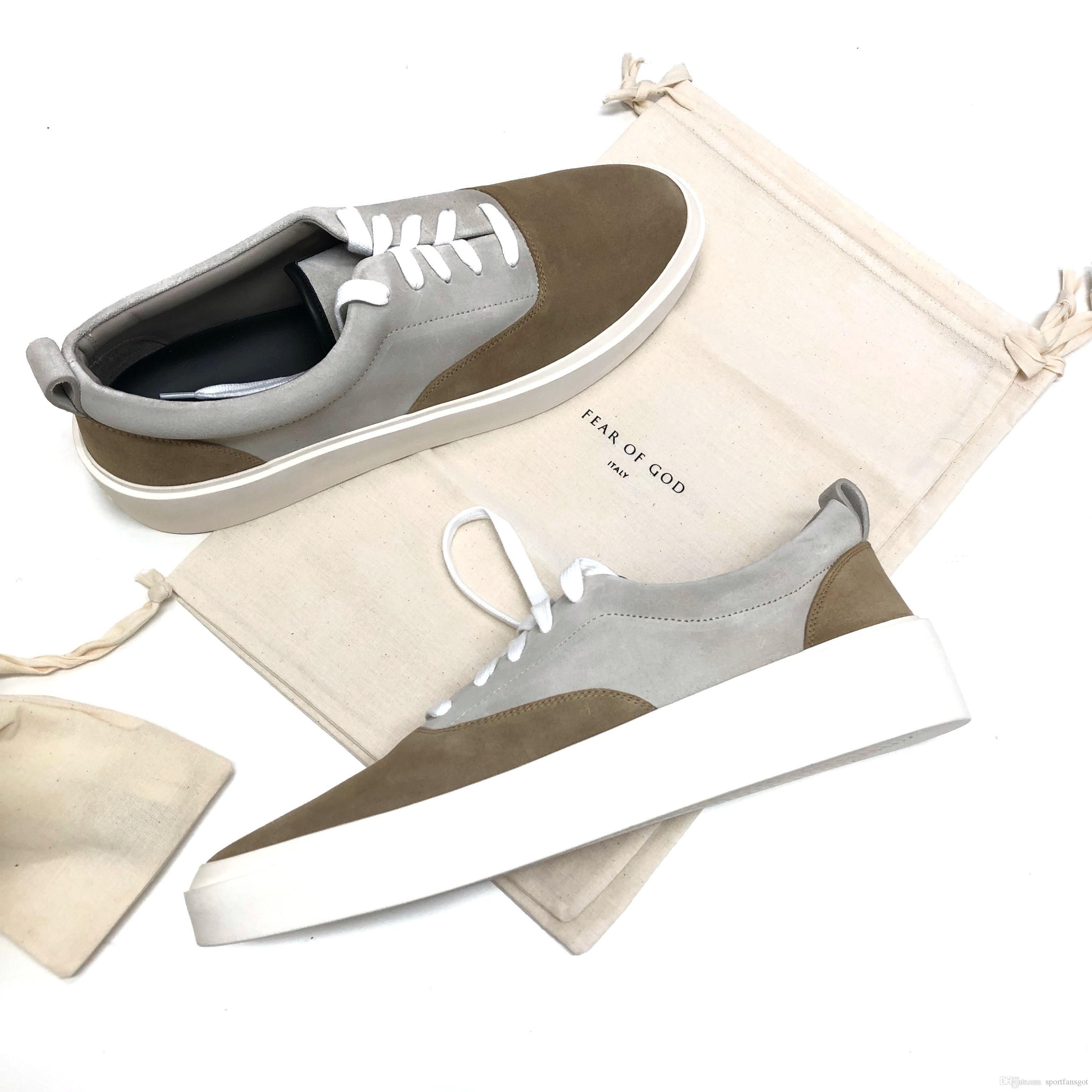 94bdeea2d99 Fear Of God 101 5th Collection Sneakers Fog Jerry Lorenzo Version Fog  Running Shoes Suede Leather Version Size 40 45 Womens Running Shoes Sport  Shoes From ...