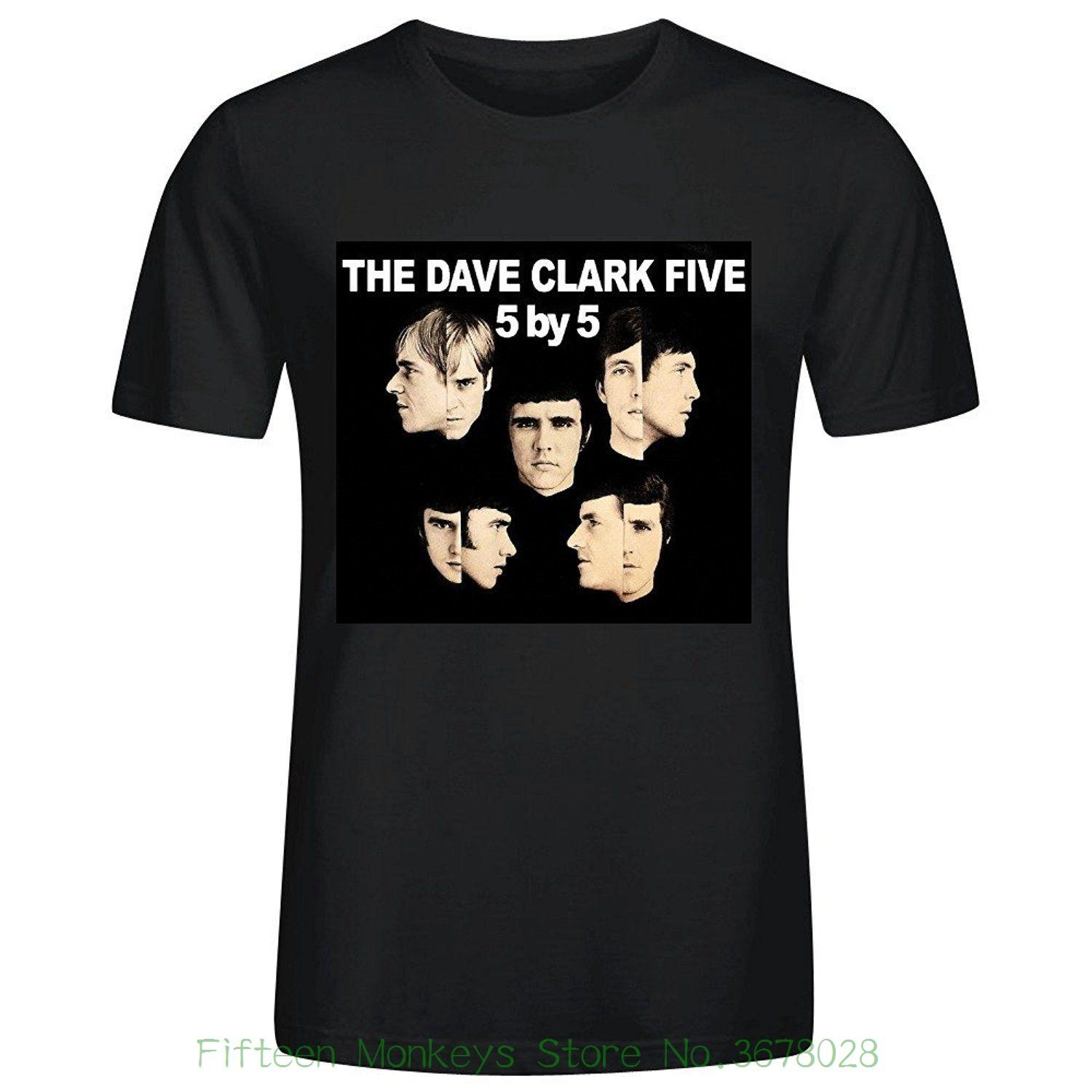 2019 Marke T-shirt Homme Tees Mode Herren Die Dave Clark Five 5 By 5 Graphic Printed Lustiges T-Shirt