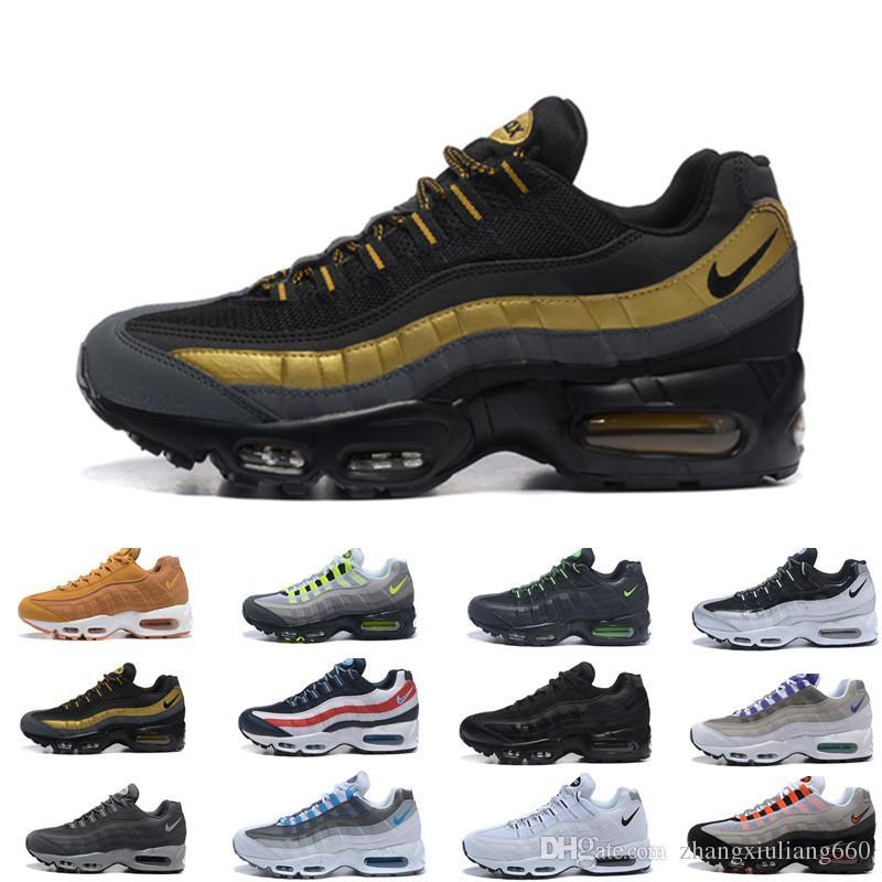 online retailer 0be5c 55c62 2019 Ultra Unisex 95 Shoe OG 20th Anniversary Men Running Shoes Sports 95s  Black Grey Mens Trainers Tennis Designer Sneakers Size 7-12 T003