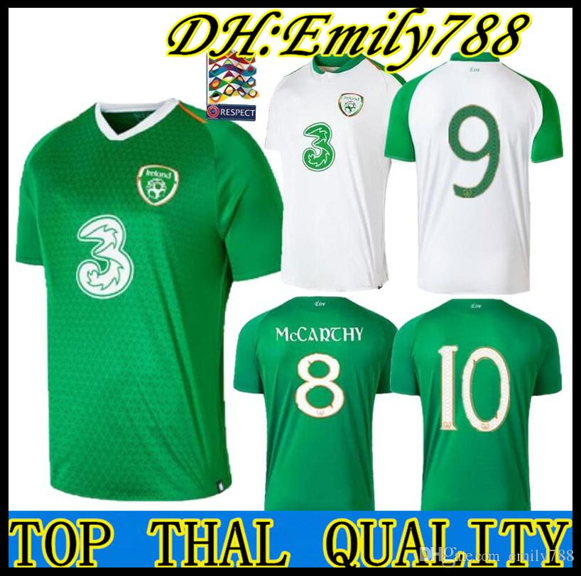 27aba30aabc43 2019 2019 2020 Ireland Soccer Jerseys 2019 2020 Republic Of Ireland  National Team Jerseys 2019 World Cup Ireland KEANE Daryl Home Football  Shirts From ...