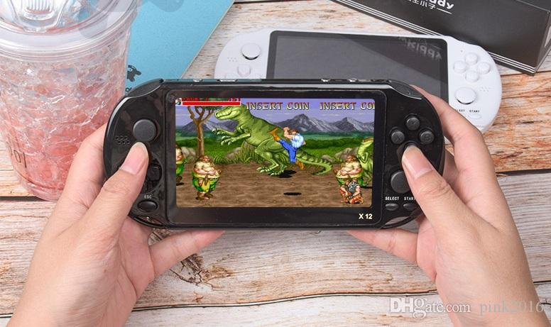 TOP quality X12 Handheld Game Player 8GB Memory Portable Video Game Consoles with camera 5.1 inch Support TF Card 32gb MP3 MP4 Player